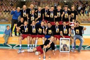 Volleyballl Maenner 2015 Europameisterschaft SCD Siegerehrung 21.06.2015 - Foto: Christian Kemp