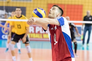 Gilles BRAAS (Luxemburg 6) / Volleyball, Europameisterschaftsqualifikation Maenner, Luxemburg-Litauen / 20.05.2016 / Luxemburg / Foto: Christian Kemp