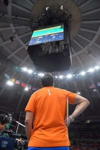 Giovanni Guidetti of the Netherlands during the challenge