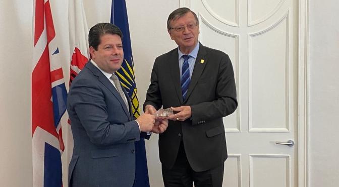 CEV President pays historic visit to Gibraltar